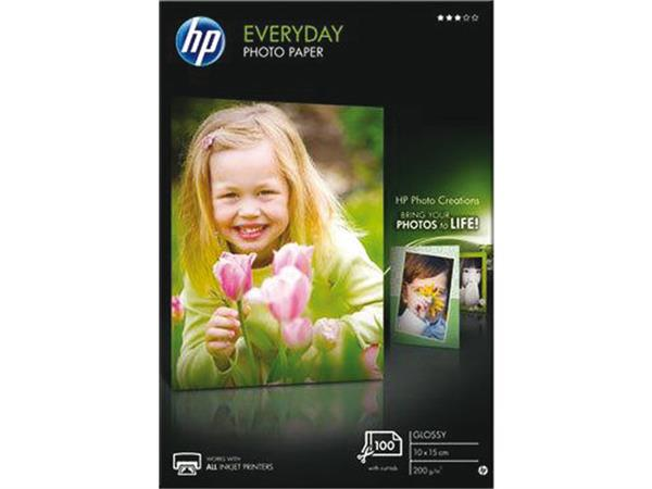 INKJETPAPIER HP CR757A 10X15CM FOTO GLANS 200GR