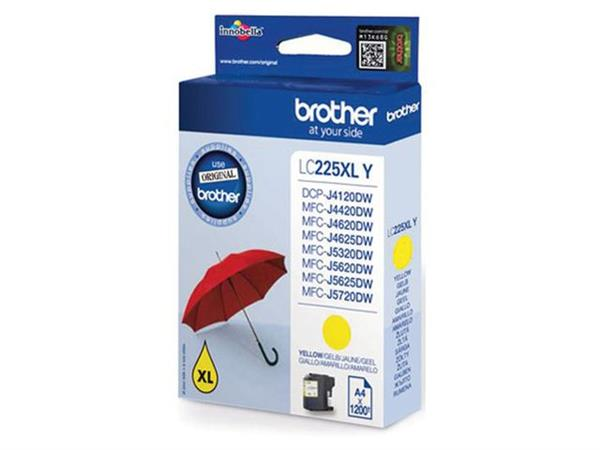 INKCARTRIDGE BROTHER LC-225XL GEEL