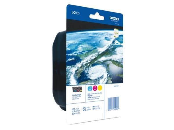 INKCARTRIDGE BROTHER LC-985 3 KLEUREN