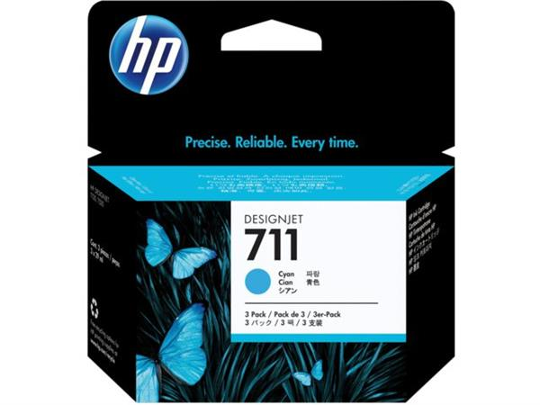 INKCARTRIDGE HP 711 CZ134A HC BLAUW