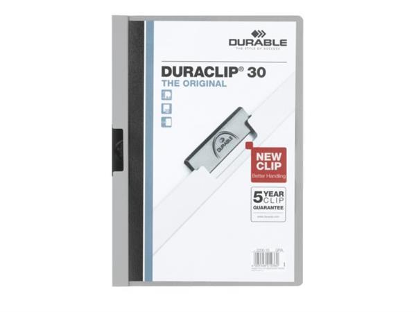 KLEMMAP DURABLE 2200 A4 PL/TR 3MM GRIJS