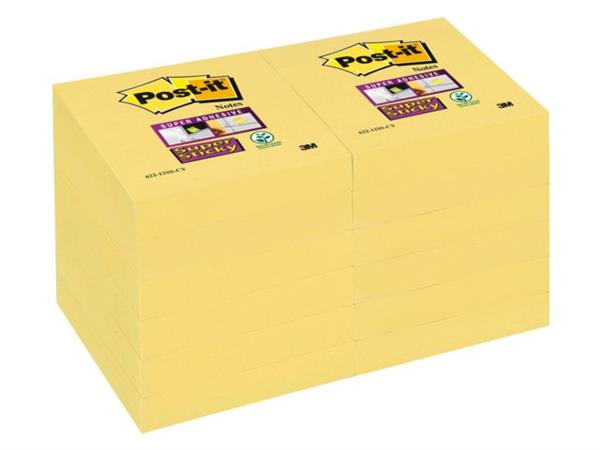 MEMOBLOK 3M POST-IT 622 51X51MM SS GEEL