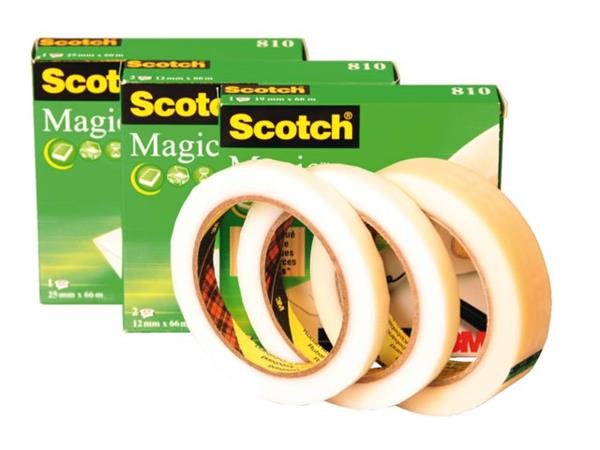 PLAKBAND 3M SCOTCH 810 12MMX66M MAGIC ONZICHTBAAR