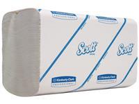 Scott® Papieren Handdoeken, Interfold, 1 laag, 21,5 x 21,5 cm, Wit (doos 15 wikkels)