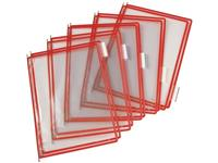 tarifold Zichtpaneel A4, Plastic, Rood (pak 10 stuks)