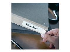 3L Zelfklevende Etikethouder, Polypropyleen, 25 x 75 mm, Transparant (pak 12 stuks)