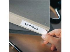 3L Zelfklevende Etikethouder, Polypropyleen, 102 x 35 mm, Transparant (pak 12 stuks)