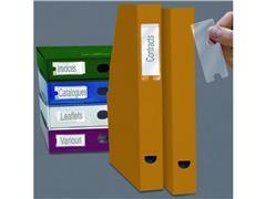 3L Zelfklevende Etikethouder, Polypropyleen, 35 x 75 mm, Transparant (pak 12 stuks)