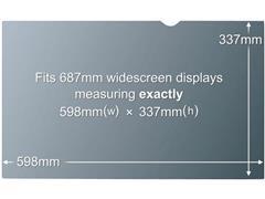 3M™ 3M Privacyfilter voor breedbeeldscherm voor desktop 27'' - privacy-filter voor scherm - 27'' breed