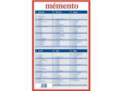 AURORA Mementoplaat Kalender, 210 x 330 mm, Frans