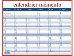 AURORA Mementoplaat Kalender, 420 x 330 mm, Frans