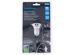 GRUNDIG Auto oplader, USB, 12/24 V, 3 poorten
