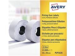 Avery Etiket 2 Regels, 26 x 16 mm, Wit (pak 10 rollen)