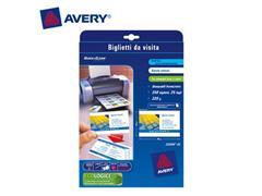 Avery Quick & Clean™ visitekaartje 85 x 54 mm, 220 g/m², dubbelzijdig, C32016, Laser (pak 250 stuks)