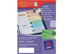 Avery Voorbedrukt tabblad, karton, 10-delig, A4, assorti