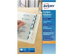 Avery Tabbladen bedrukbaar Index Maker™ 9 rings, A4 maxi, 6 bedrukbare tabs, L7455-6