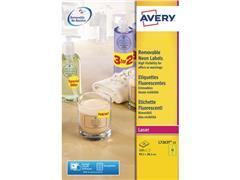 Avery ZWECKFORM neon gekleurde etiketten 99 x 38,1 mm, neon geel, L7263Y (pak 350 stuks)
