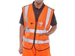 B SEEN Executive Veiligheidsvest, Reflecterend, Maat L, Oranje