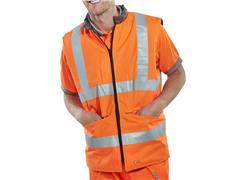 B SEEN Omkeerbare Bodywarmer, Maat S, Grijs en Reflecterend Oranje