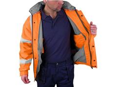 B SEEN Bomberjack Werkjas, Reflecterend, Maat 4XL, Oranje