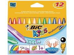 BIC® Kids Plastidecor Triangle Krijt (pak 12 stuks)