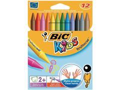 BIC® Kids Plastidecor Waskrijt, Assorti (pak 12 stuks)