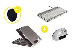 Bakker Elkhuizen Homeworking Essentials Plus US/EUR met gratis mousepad (doos 4 stuks)