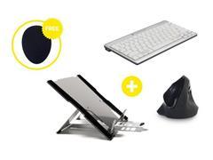 Bakker Elkhuizen Homeworking Professional Plus US/EUR met gratis mousepad (doos 4 stuks)