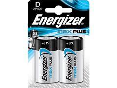 Energizer Max Plus D Batterij, 1,5 V (pak 2 stuks)