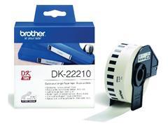 Brother DK-22210 Labels, Papier, 29 mm, Zwart op Wit (rol 30.48 meter)