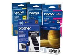 Brother LC-1000 Inktcartridge, Valuepack, Zwart en kleur (pak 4 stuks)