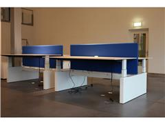 Midbalk Voor Duo Bureau, 160 x 180 cm, Wit