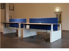 Midbalk Voor Duo Bureau, 160 x 180 cm, Zwart