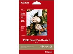 Canon Plus Glossy II Fotopapier voor Inkjet 100 x 150 mm 260 g/m² Wit Glanzend 50 vel (pak 50 vel)