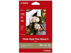 Canon Plus Glossy II Fotopapier voor Inkjet A3 260 g/m² Wit Glanzend 20 vel (pak 20 vel)