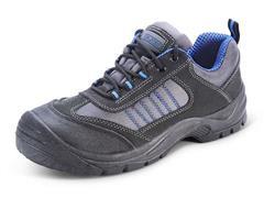 Click Trainer Werkschoenen, Laag, Maat 44, Zwart, Blauw (paar 2 stuks)