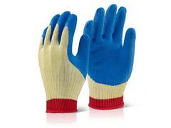 Click Handschoen, Kevlar, Maat XL, Blauw met Geel en Rood (paar 2 stuks)