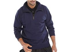 Click Sweatshirt Met Rits marine S