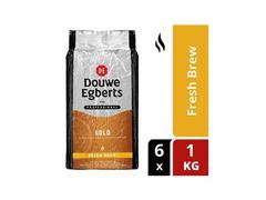 Douwe Egberts Fresh Brew Gold Gemalen Koffie (doos 6 x 1000 gram)