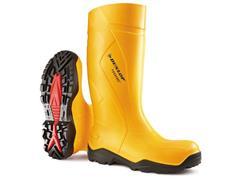 Dunlop Protective Footwear Purofort+® Wellington Laarzen, Volledige Bescherming, Maat 42, Geel (paar 2 stuks)