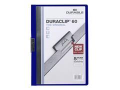 Durable Duraclip® Klemmap A4, 1-30 vel, Donkerblauw (pak 25 stuks)