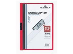 Durable Klemmap Duraclip® 1-30 vel, rood (pak 25 stuks)