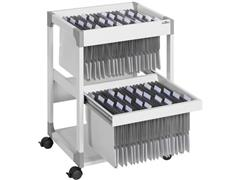 Durable System File Trolley Multi 80 Duo grijs