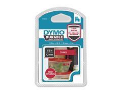 Dymo D1 Labelcassette, 12 mm x 3 m, Wit op Rood