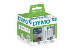 Dymo LW Ordnerlabels, Papier, 38 x 190 mm, Zwart op Wit (rol 110 stuks)