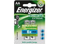 Energizer Accu Recharge Extreme AA-batterijen, 2300 mAh, oplaadbaar (pak 2 stuks)