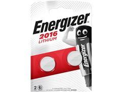 Energizer CR2016 Knoopcel Batterij, diameter 20 mm, 3 V (pak 2 stuks)