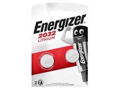 Energizer CR2032 Knoopcel Batterij, diameter 20 mm, 3 V (pak 2 stuks)