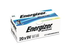 Energizer EcoAdvanced 9V Batterij, 9 V (pak 20 stuks)