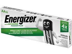 Energizer Oplaadbare Power Plus batterijen AA / NH15 2000 mAh, blisterverpakking van 10 opgeladen batterijen (pak 10 stuks)